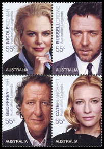 Legends of the Screen Portrait stamps