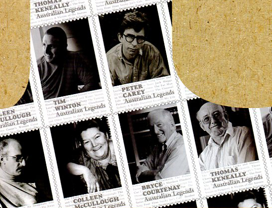 Black and white Legends stamps in Priority magazine