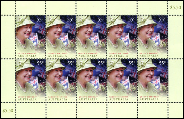 Sheet of 10 stamps