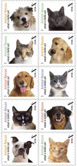 US Shelter Pets Stamps