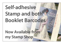 Self-adhesive stamp and booklets now available from shop.