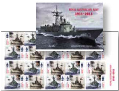 Centenary of Royal Australian Navy self-adhesive stamps