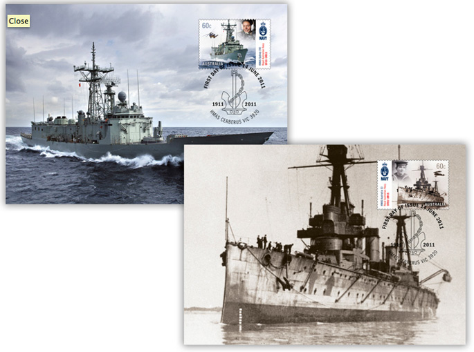 Centenary of Royal Australian Navy maximum cards