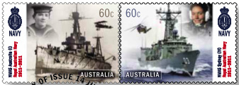 Centenary of Royal Australian Navy stamps