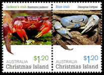 Christmas Island Crabs $1.20 stamps