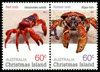 Christmas Island Crabs 60c stamps