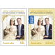 Australia: Royal Baby Christening Set of Gummed Stamps